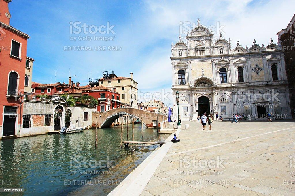 The Scuola Grande di San Marco, Venice stock photo