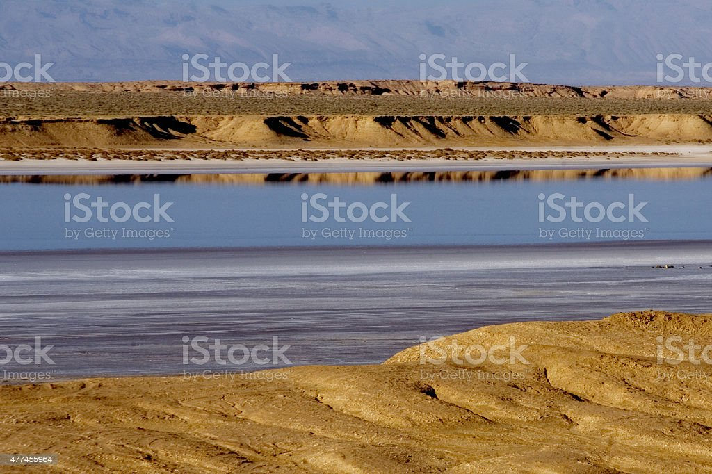 The sea and the desert stock photo