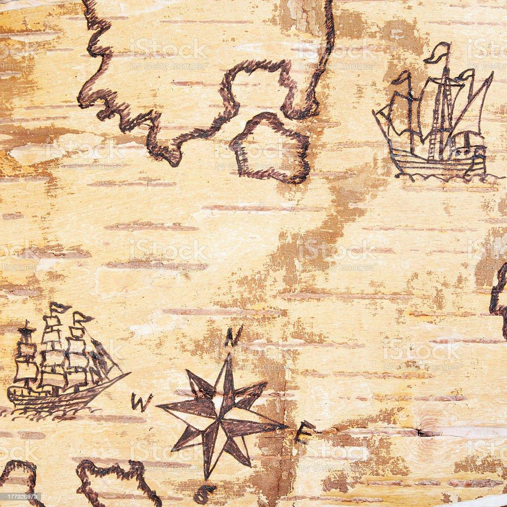 The sea chart stock photo