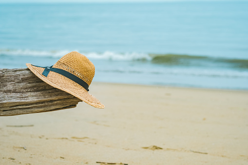 The Sea, Driftwood and Straw Hats