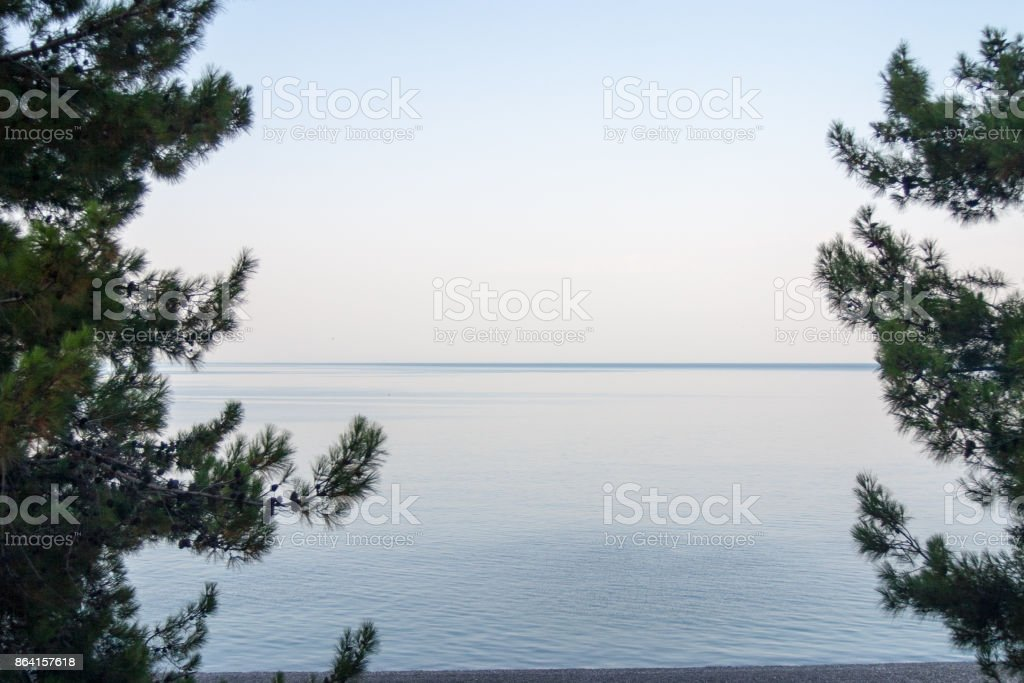The sea from the train window royalty-free stock photo