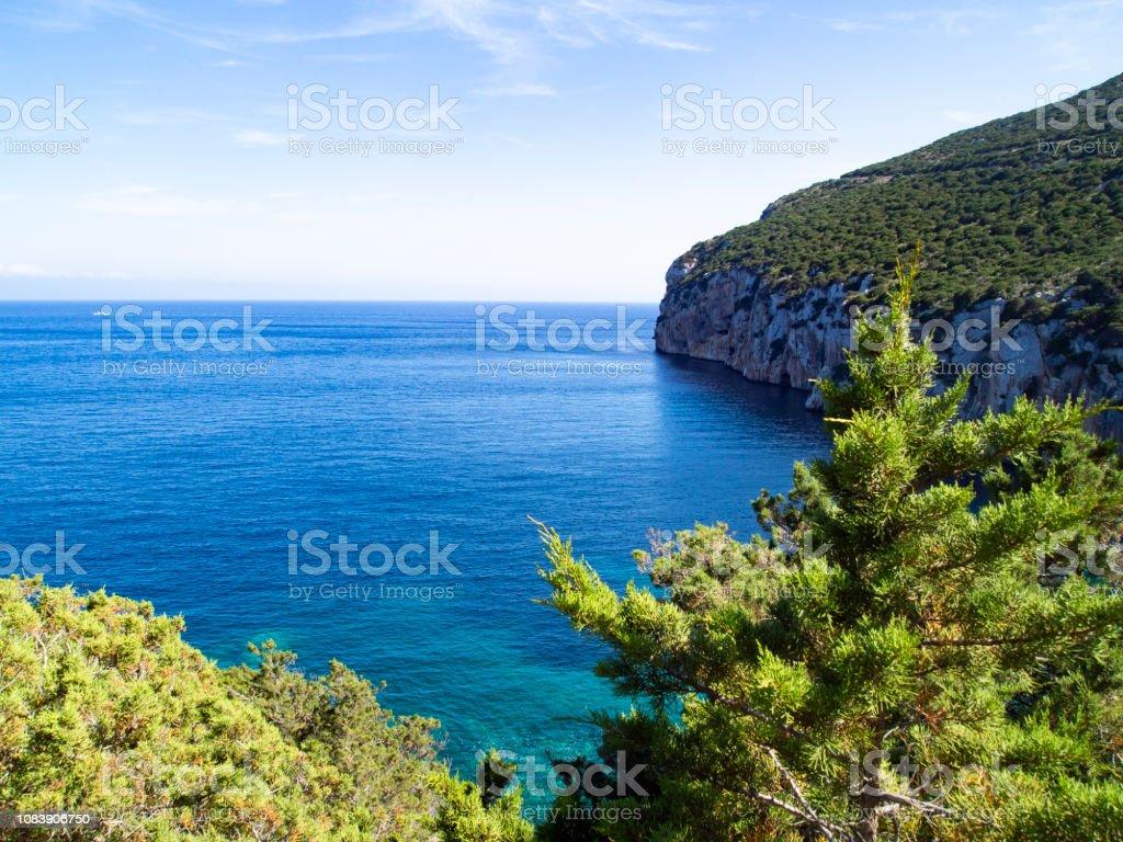 The sea in Cala del Bollo - foto stock