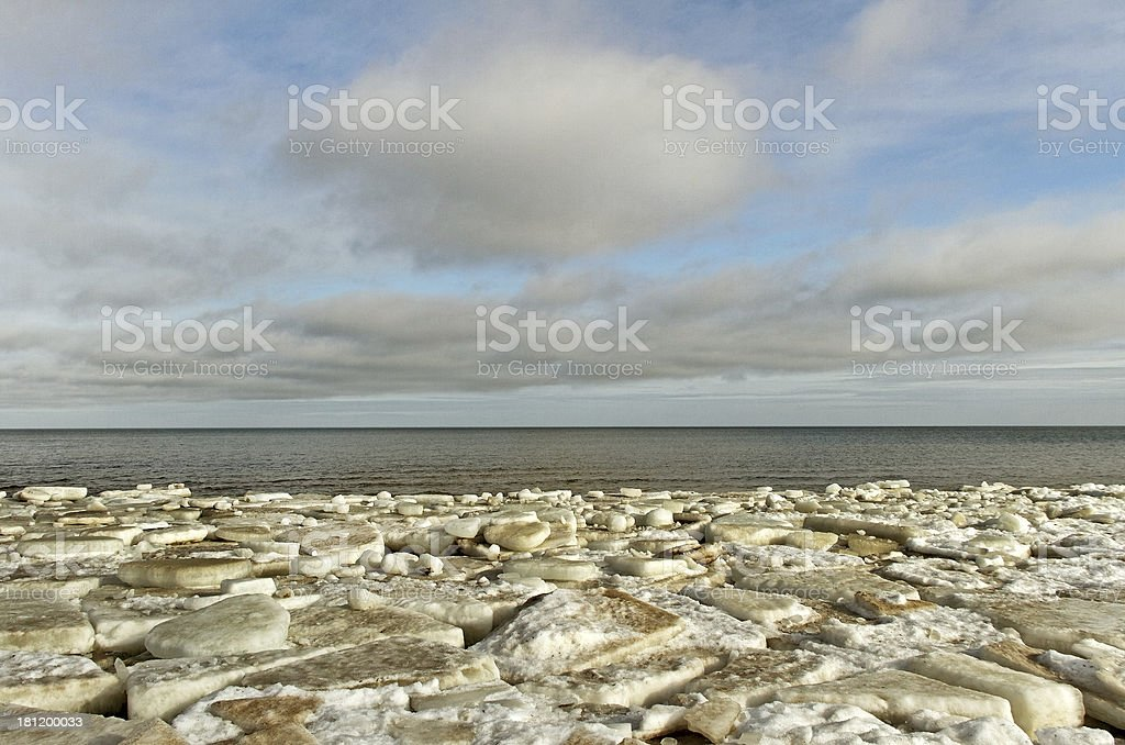 The sea in ice. royalty-free stock photo