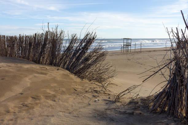 El mar en invierno. - foto de stock