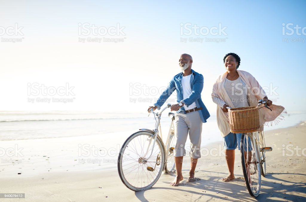 The sea is for seniors too stock photo