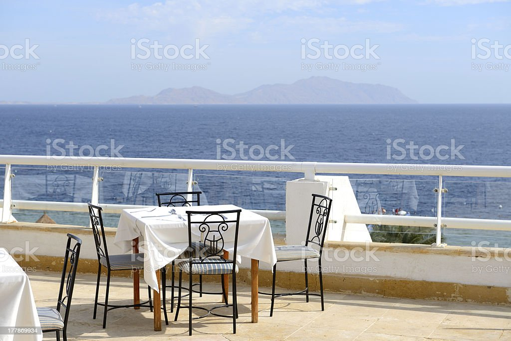 The Sea View Outdoor Terrace Of Restaurant At Luxury Hotel Stock Photo Download Image Now Istock