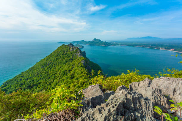 The Sea views Manao Bay stock photo