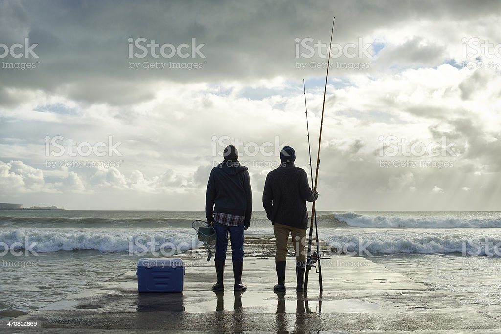 The sea was generous today... stock photo