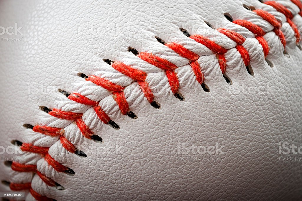 The seam of a baseball – Foto