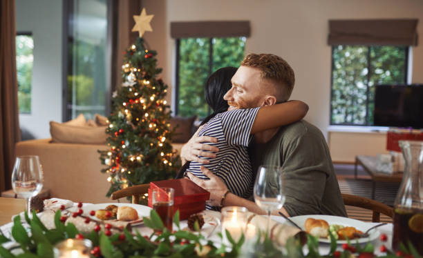 The season for love and togetherness stock photo