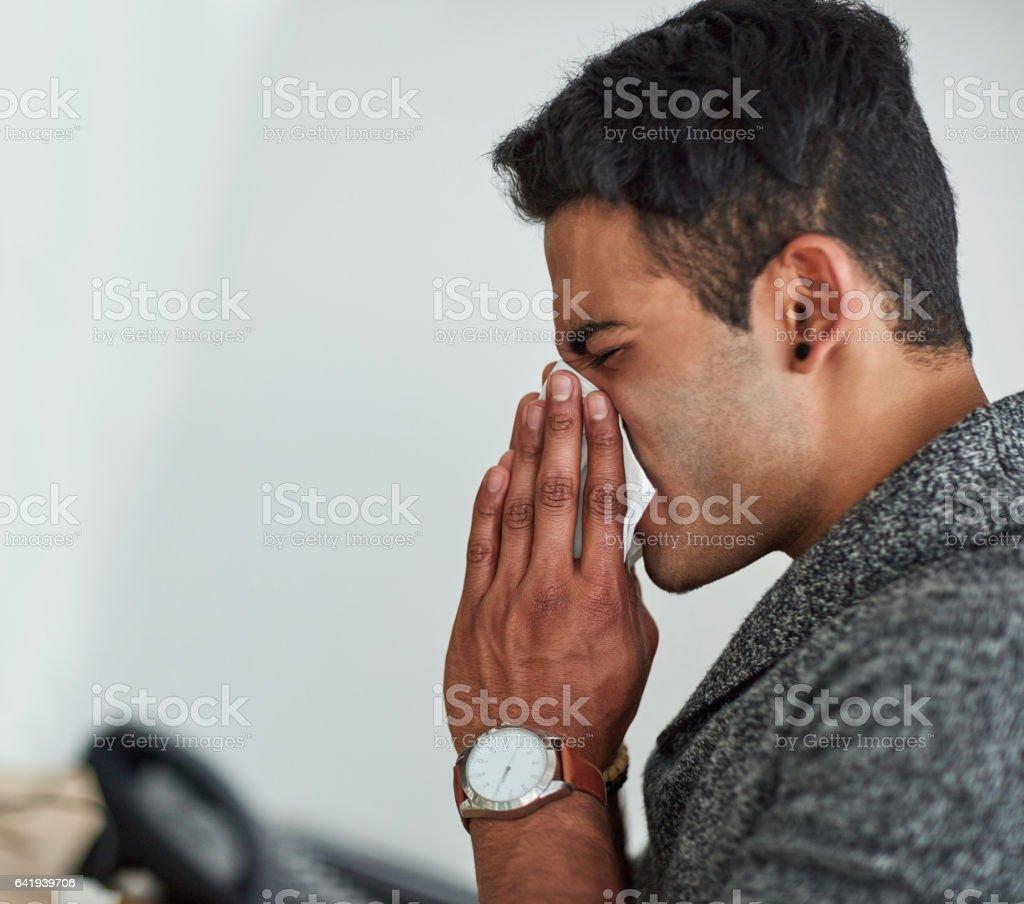 The season for sneezes stock photo