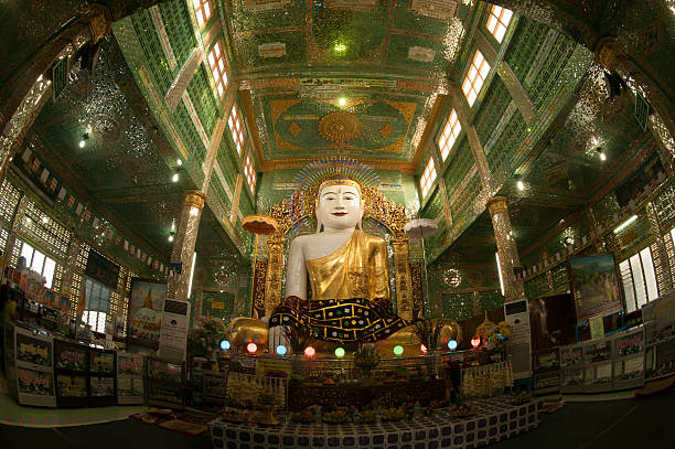the seated buddha in soon u pone nya shin paya. - pone stock photos and pictures