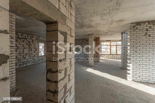 466705128 istock photo The second attic floor of the house. overhaul and reconstruction. Working process of warming inside part of roof. House or apartment is under construction, remodeling, renovation, restoration. 1076199042