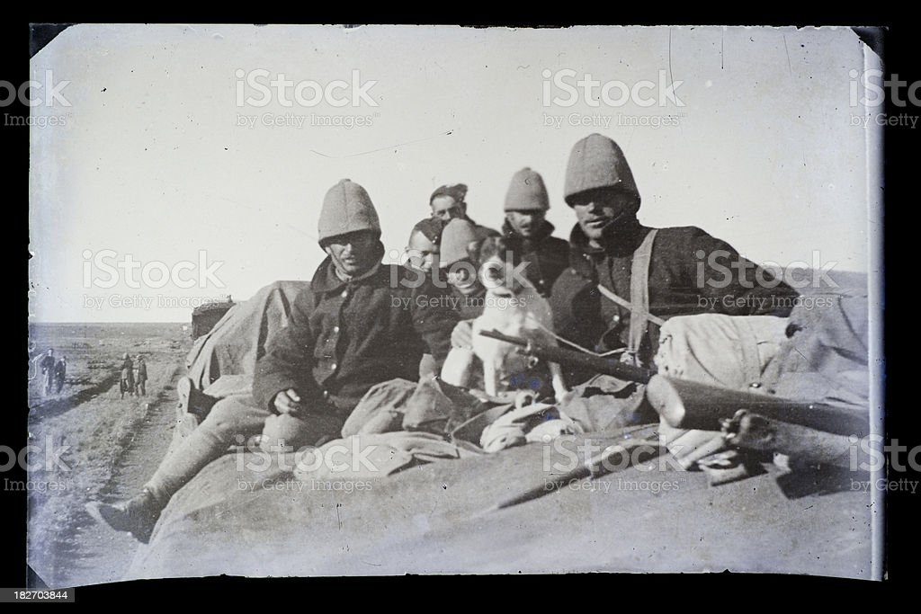 The Second Boer War - British Soldiers stock photo