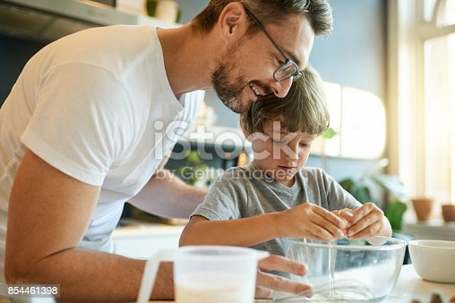 istock The secret ingredient to a special father son bond? Love 854461398