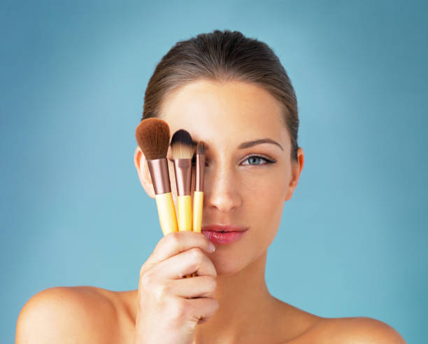 the secret to a flawless makeup routine - make up stock photos and pictures