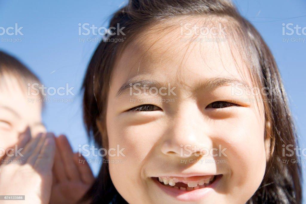 國小學童的秘訣 免版稅 stock photo