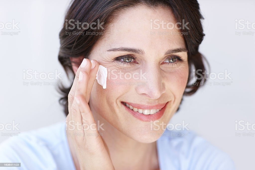 The secret to my youth... stock photo