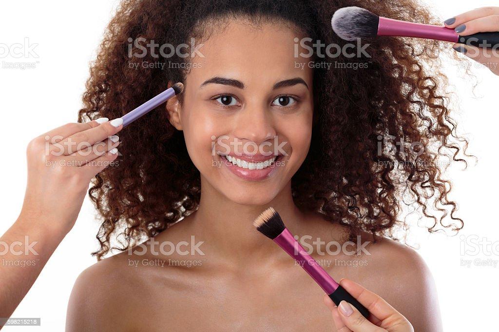 The secrets of sculpting makeup foto royalty-free