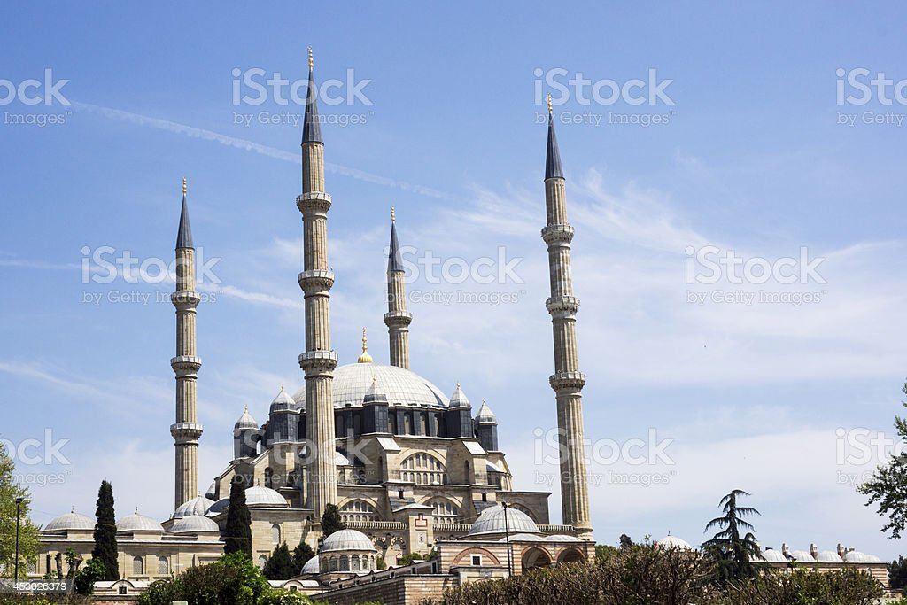 The Selimiye Mosque in the middle of the city royalty-free stock photo