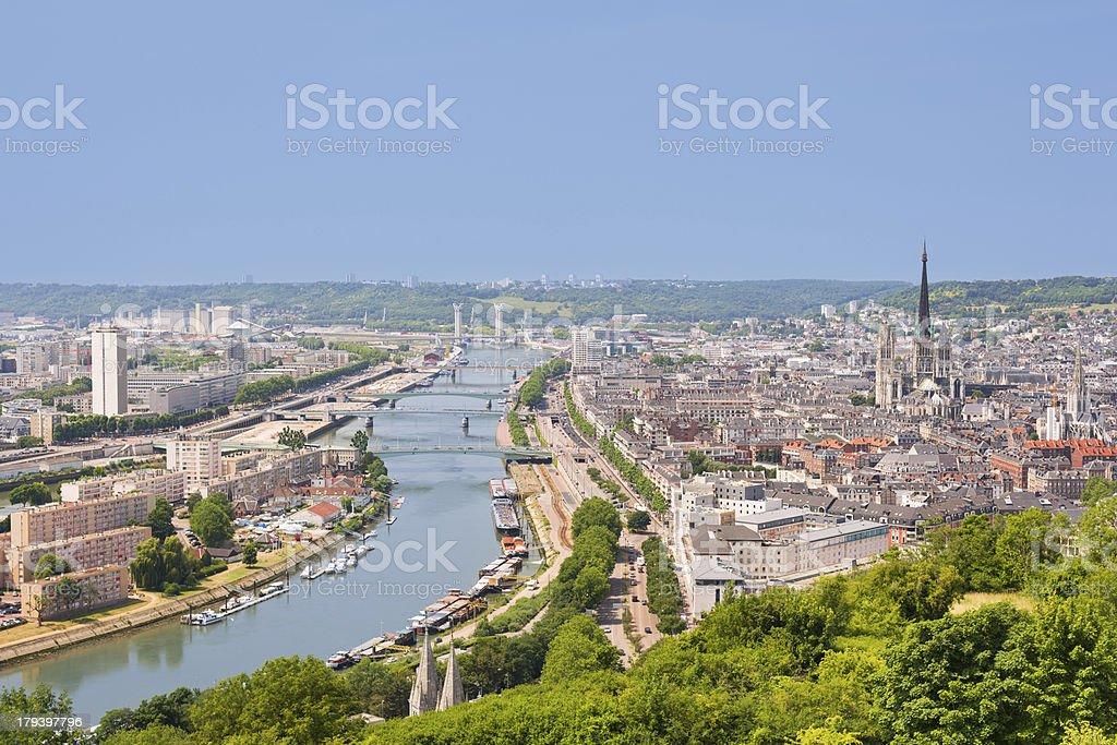 The Sena in Rouen stock photo