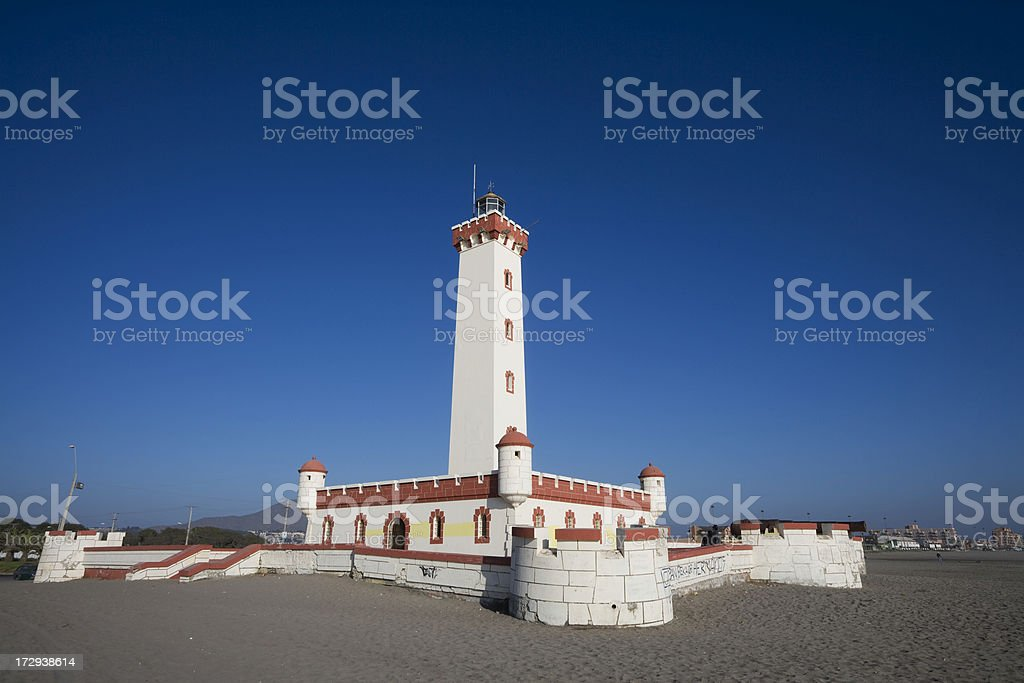 La Serena Ligthouse Chile stock photo