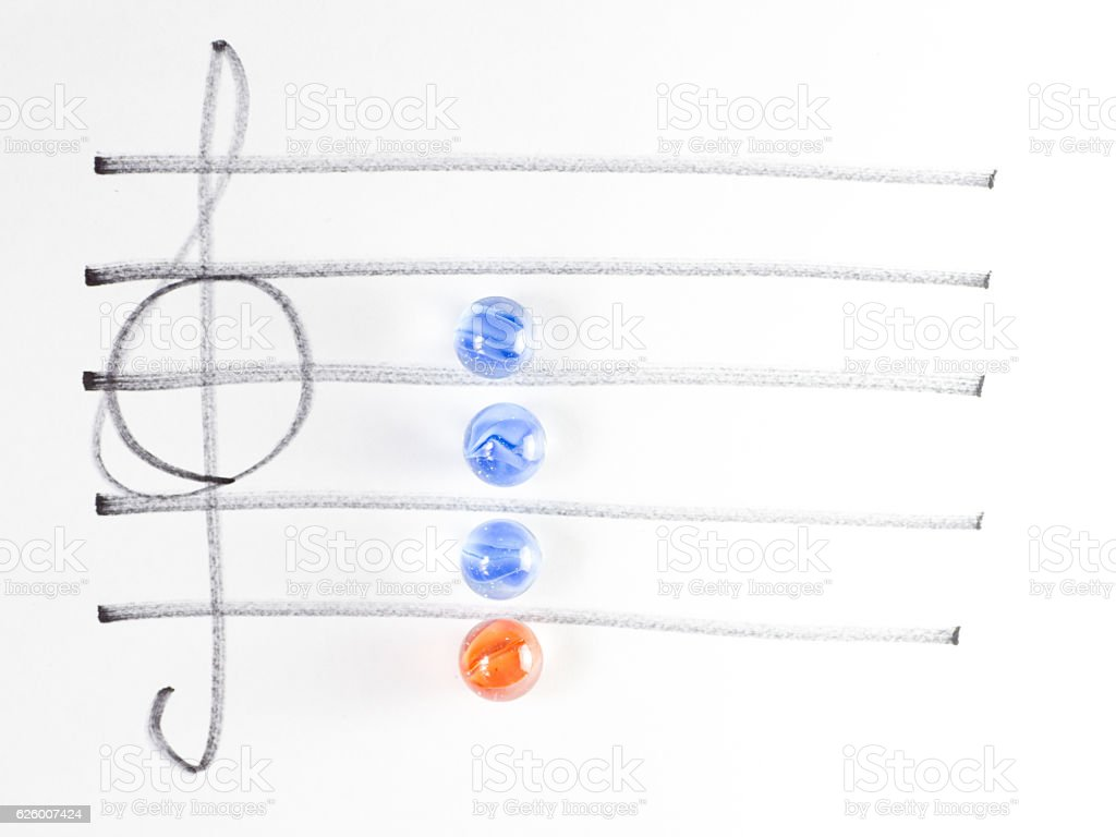 The series of chord diagram, Dm7 stock photo