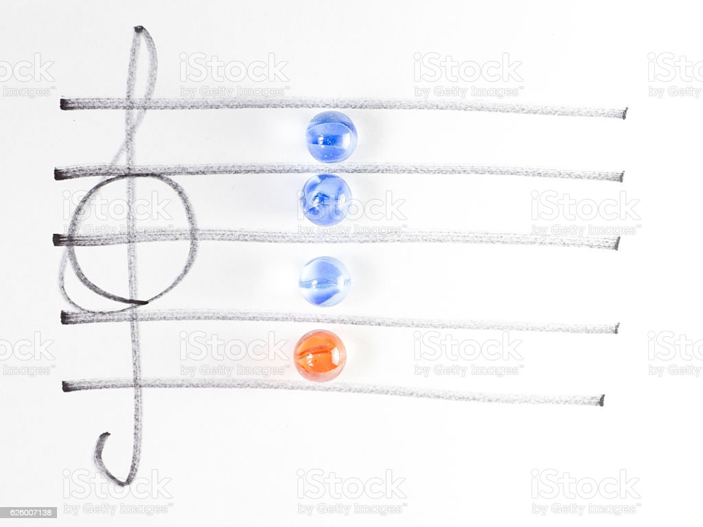 The series of chord diagram, F7 stock photo