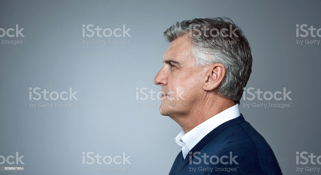 The serious side of getting older stock photo