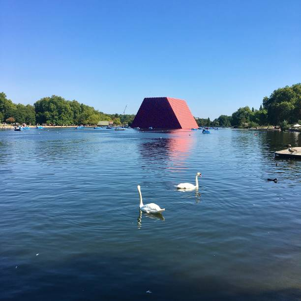 The Serpentine in Hyde Park in London. stock photo