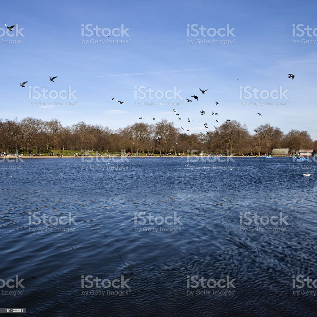 The Serpentine in Hyde Park stock photo
