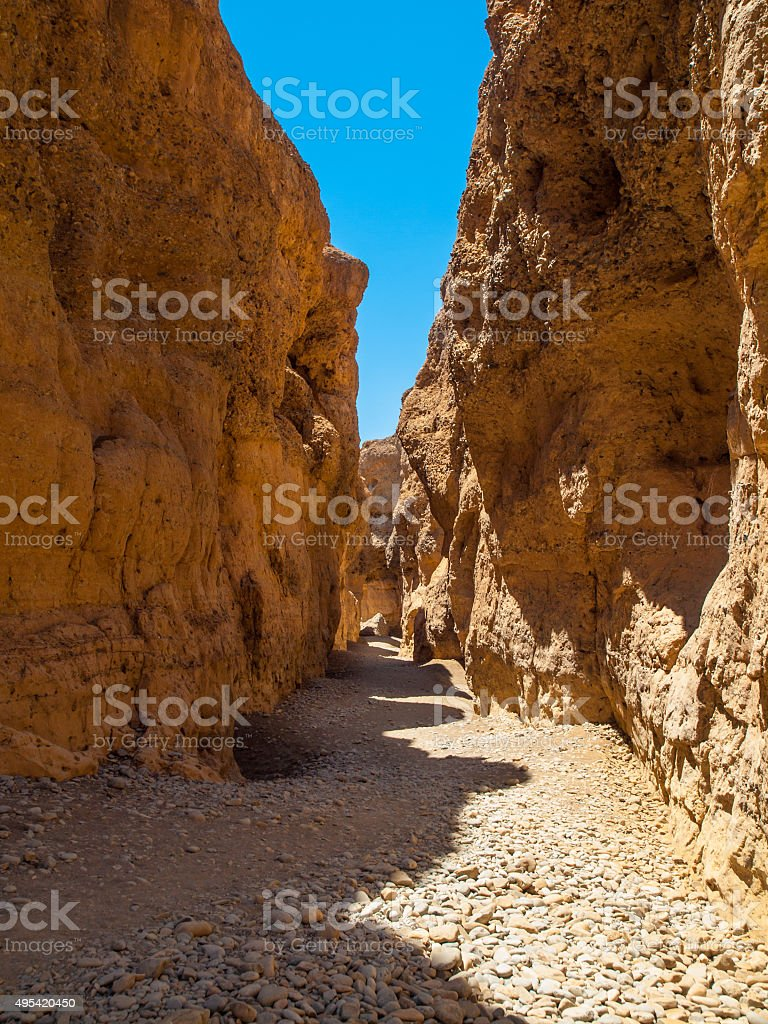 The Sesriem Canyon near Sossusvlei in Namibia stock photo