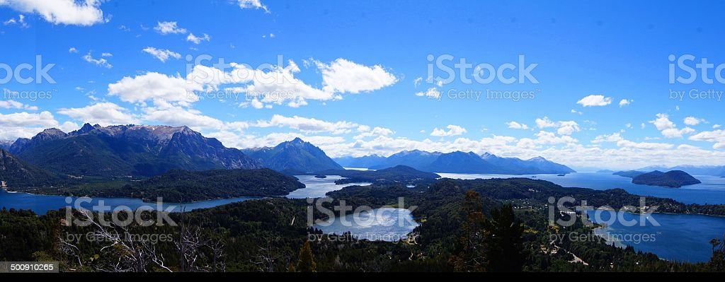 The seven lakes from Bariloche in Argenina stock photo