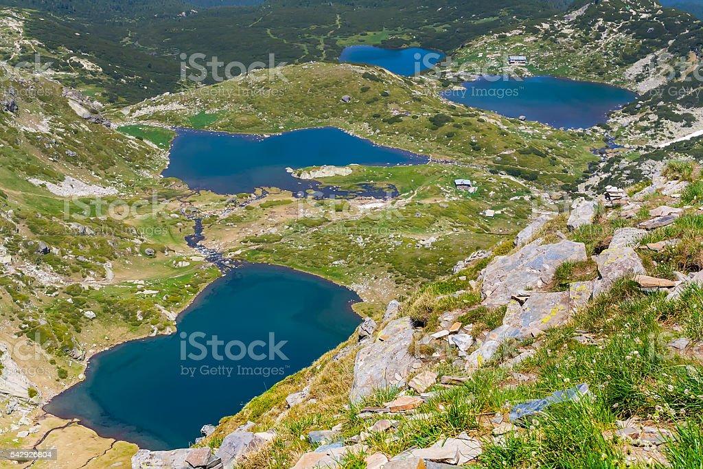 The Seven Rila Lakes, Bulgaria stock photo