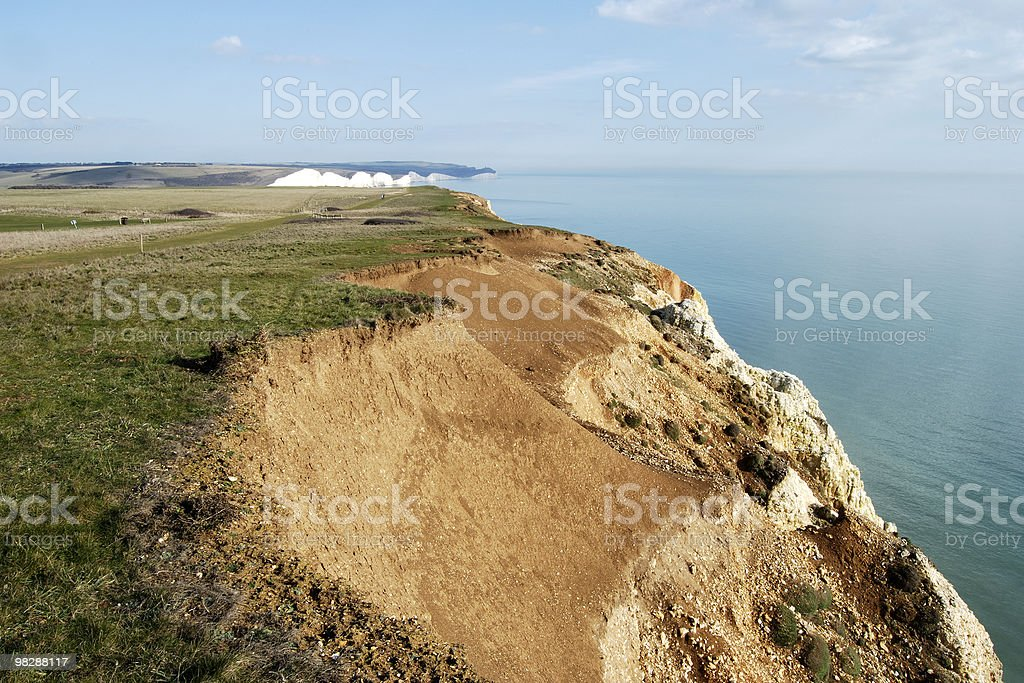 The Seven Sister Cliffs near Seaford. East Sussex. England royalty-free stock photo