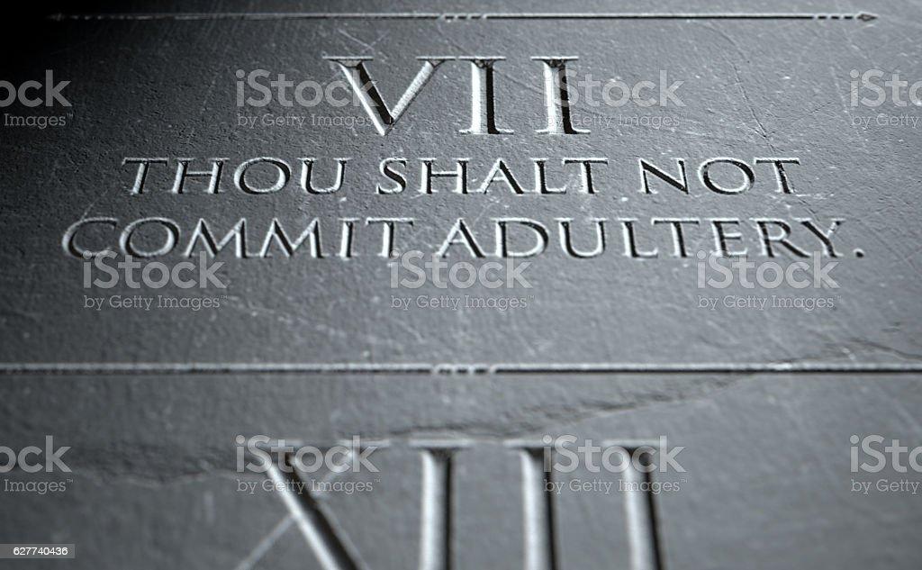 The Seventh Commandment stock photo