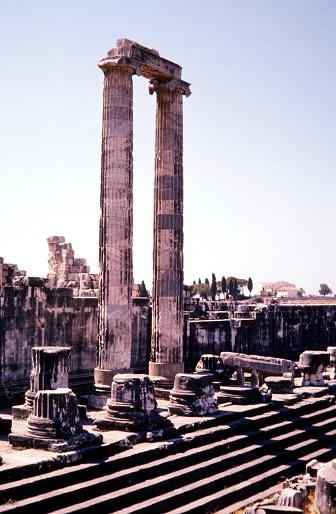 Turkey, June 1974.  The Temple of Apollo at Didyma.