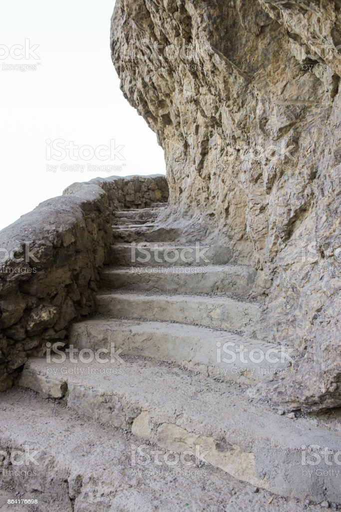 The severed stone steps. stock photo