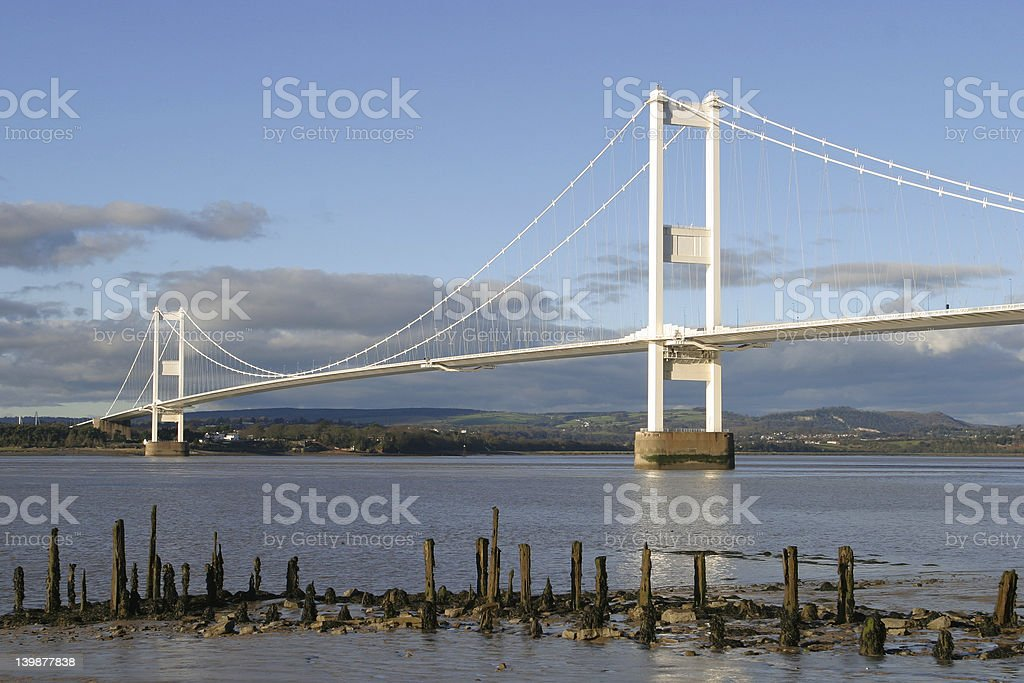 The Severn Bridge stock photo