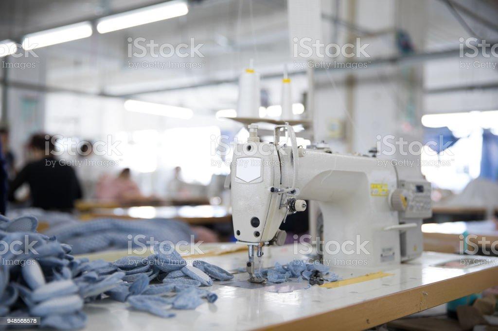 Die Nähmaschine und Kleidungsstück – Foto