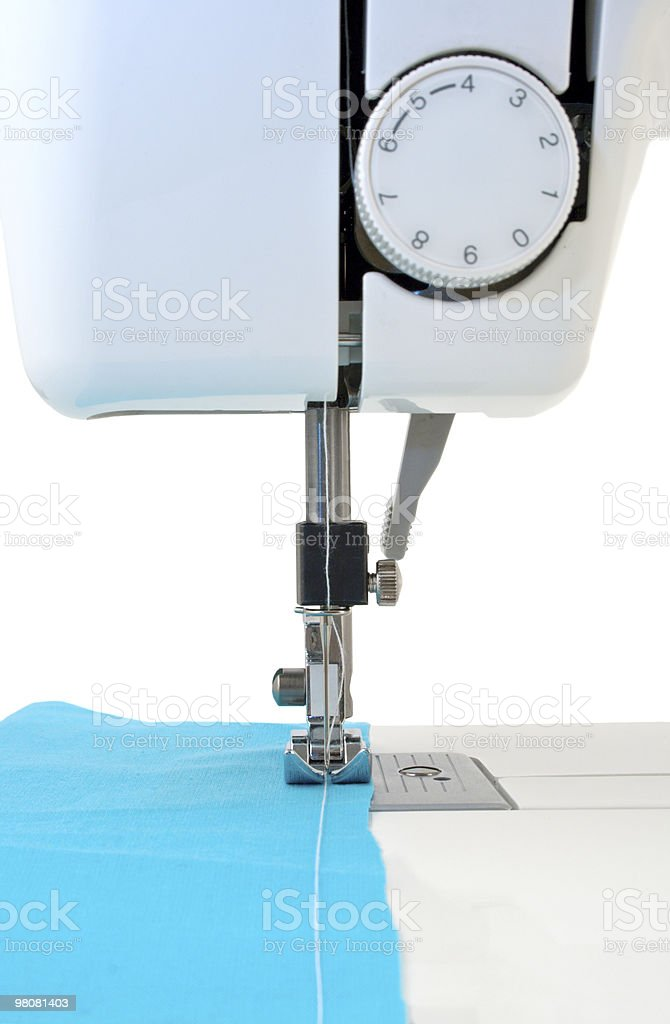 The sewing machine ready to work royalty-free stock photo