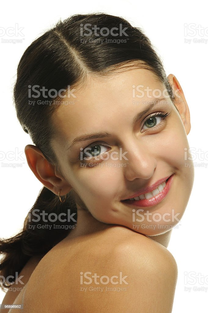 The sexual girl. A portrait closeup royalty-free stock photo