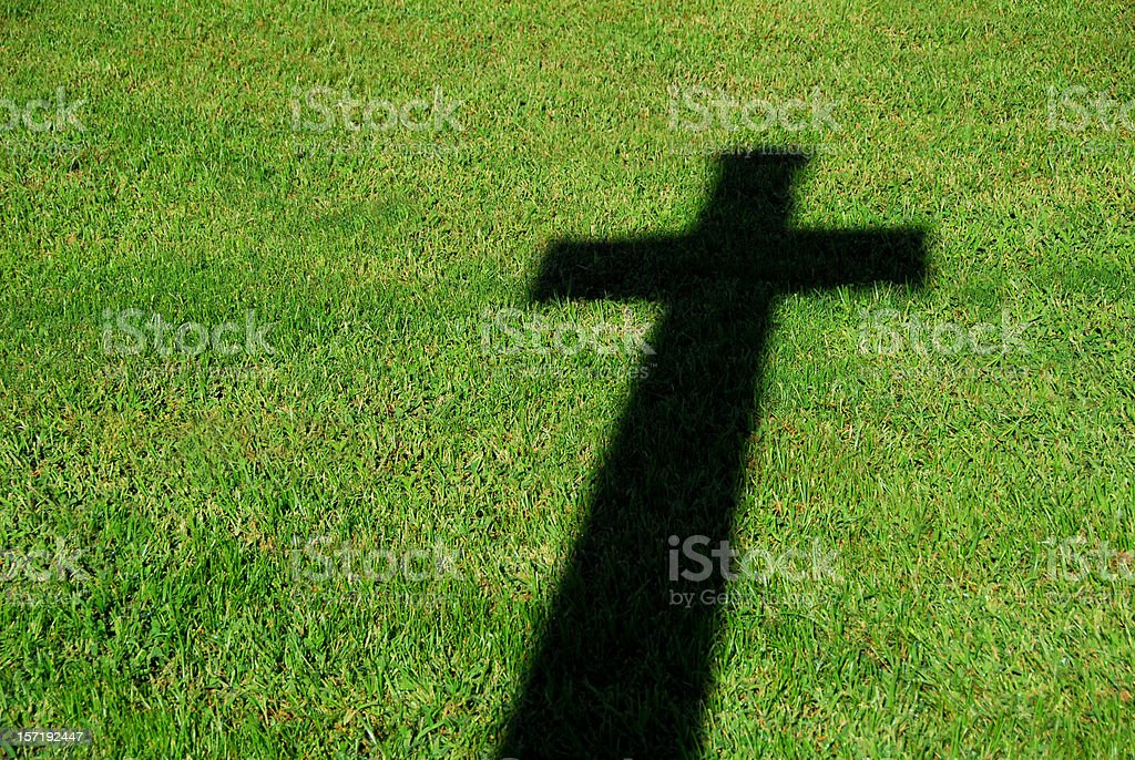The Shadow of a Cross stock photo