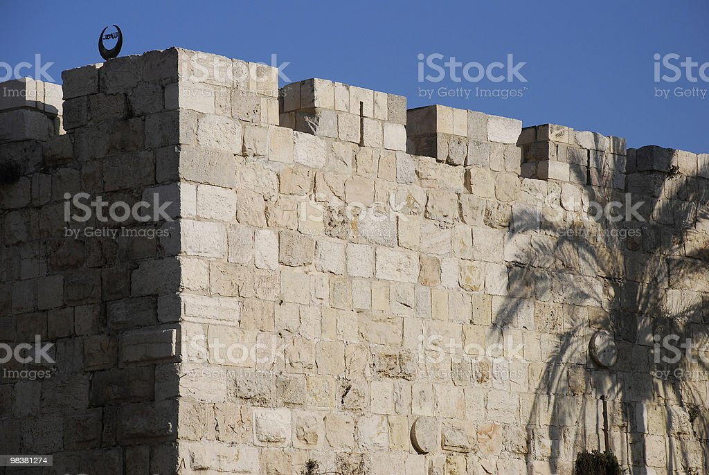 Jerusalem City Walls royalty-free stock photo