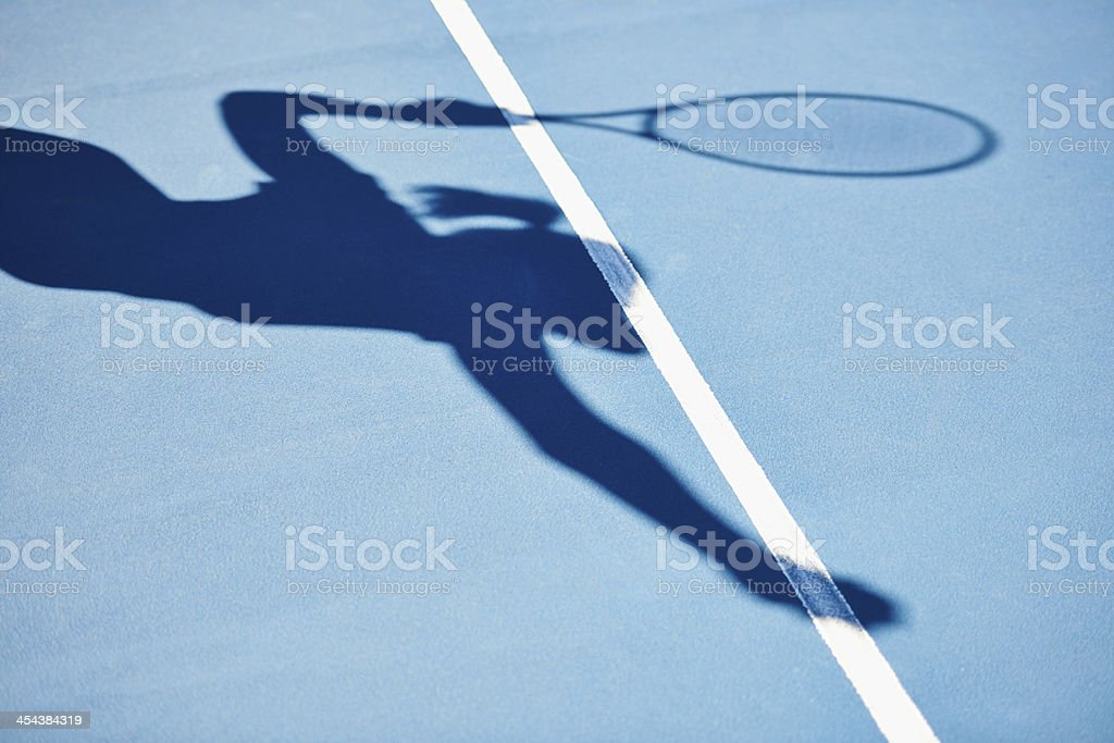 The shadow of a winner stock photo