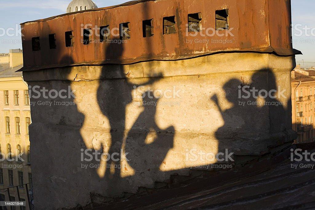 The shadows of Saint-Petersburg stock photo