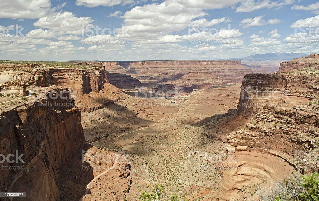 The Shaffer Trail in Canyonlands National Park royalty-free stock photo