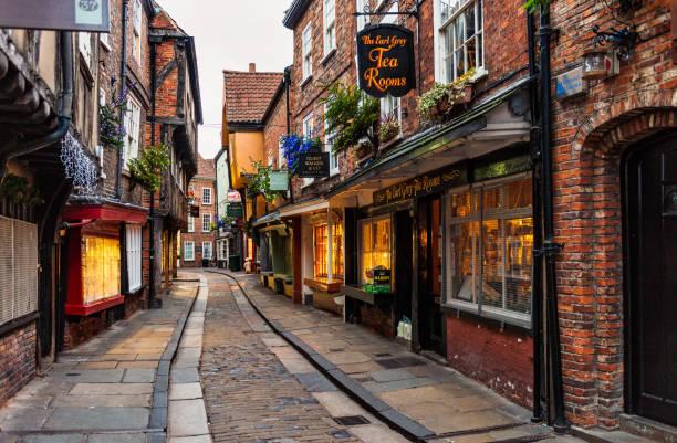 The Shambles im historischen York, England – Foto