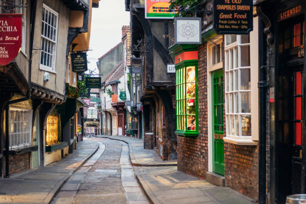 The Shambles in York, England stock photo