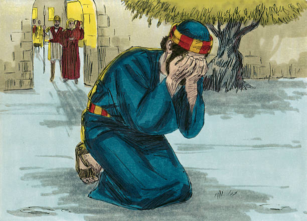 the shame of peter - peter the apostle stock photos and pictures